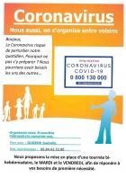 CORONAVIRUS - SOLIDARITÉ